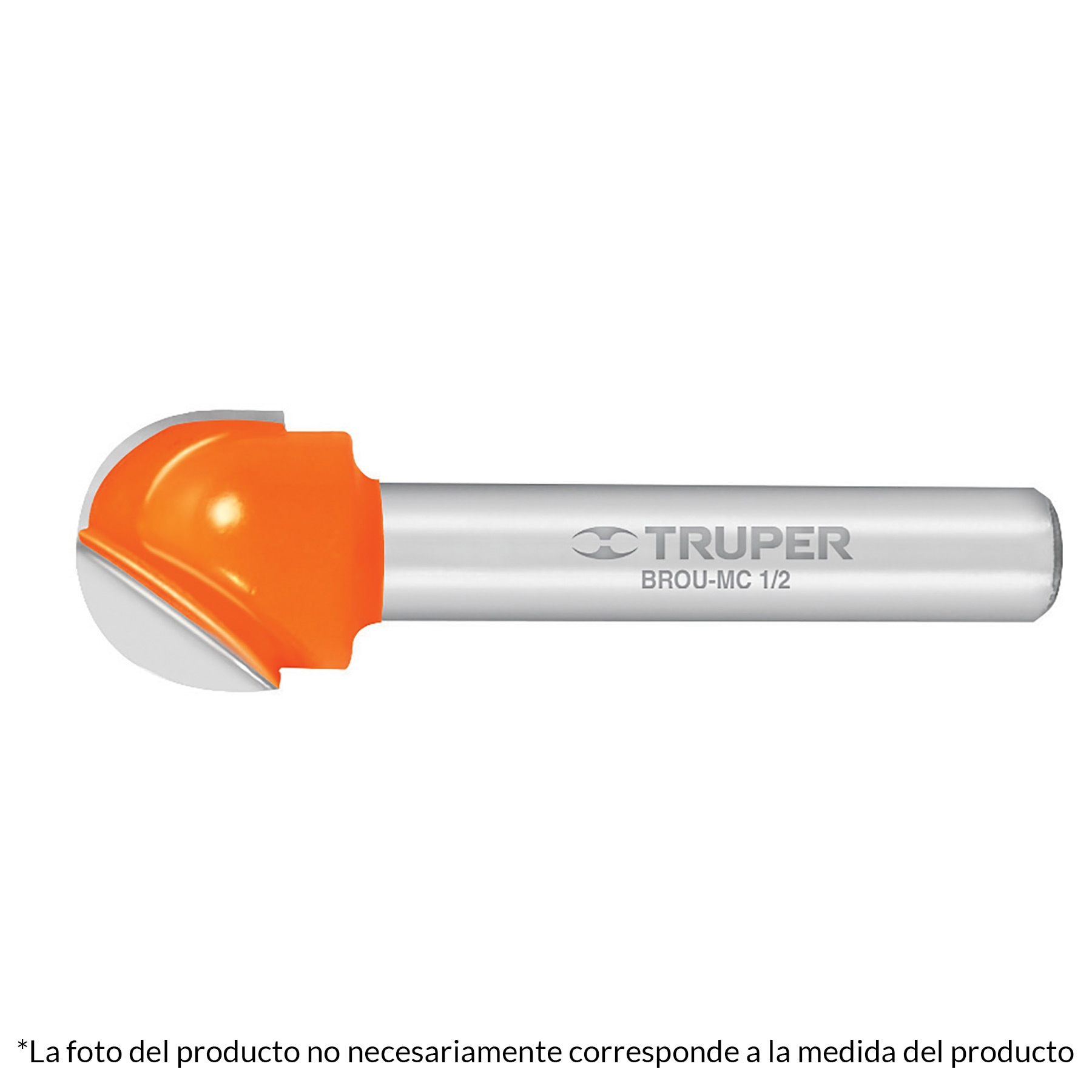 Broca para router, media caña, 3/8'