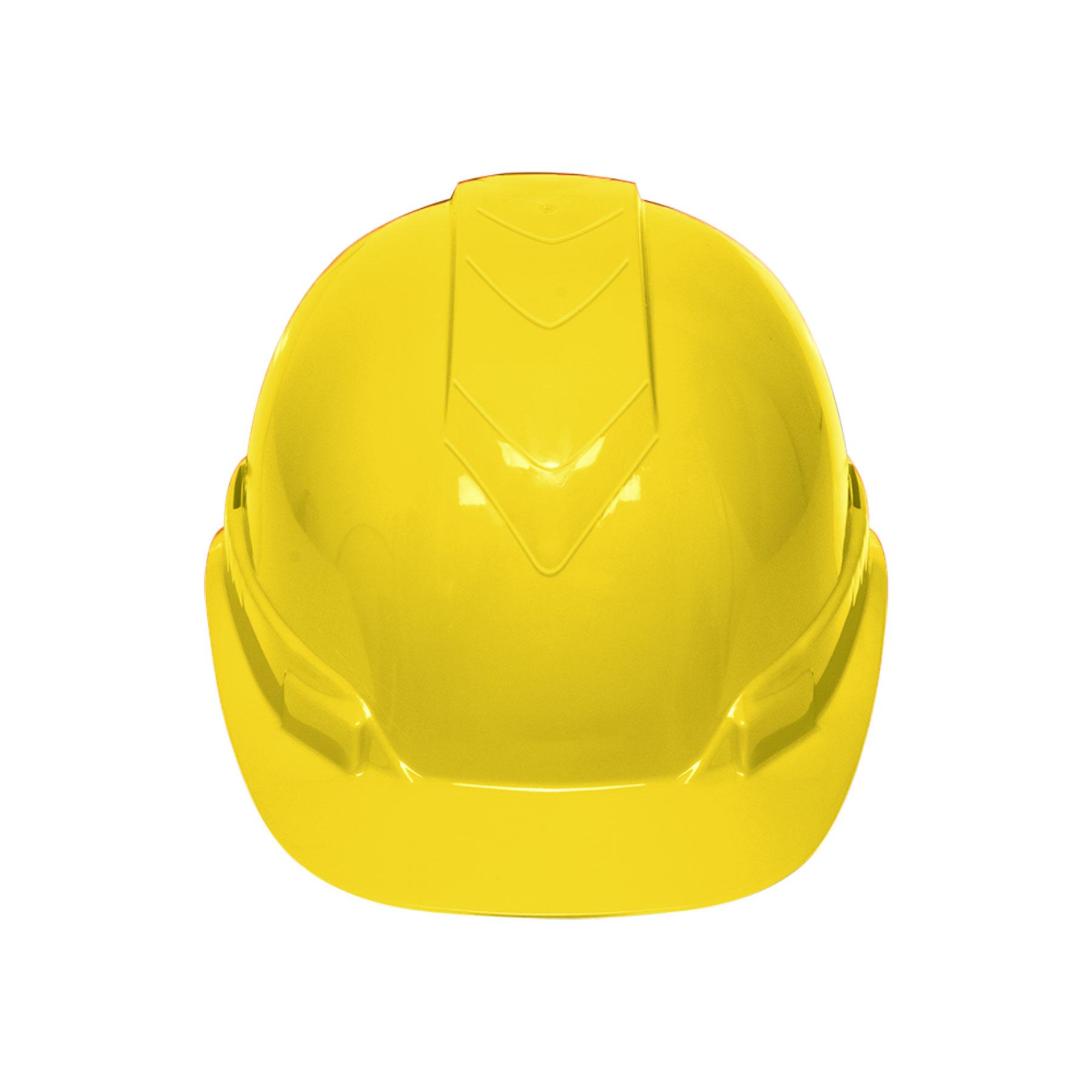 Casco de seguridad color amarillo
