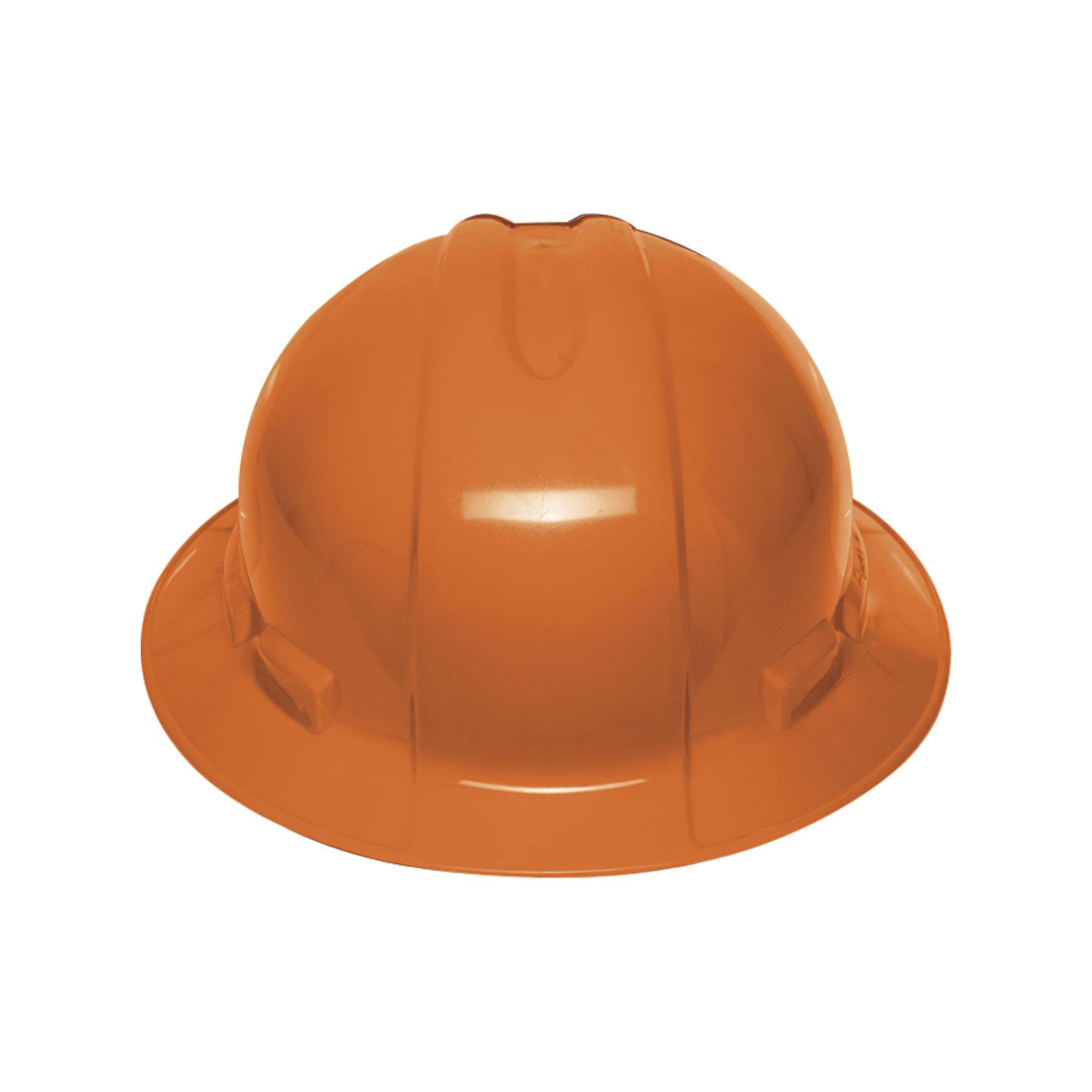 Casco de seguridad, naranja, ala ancha