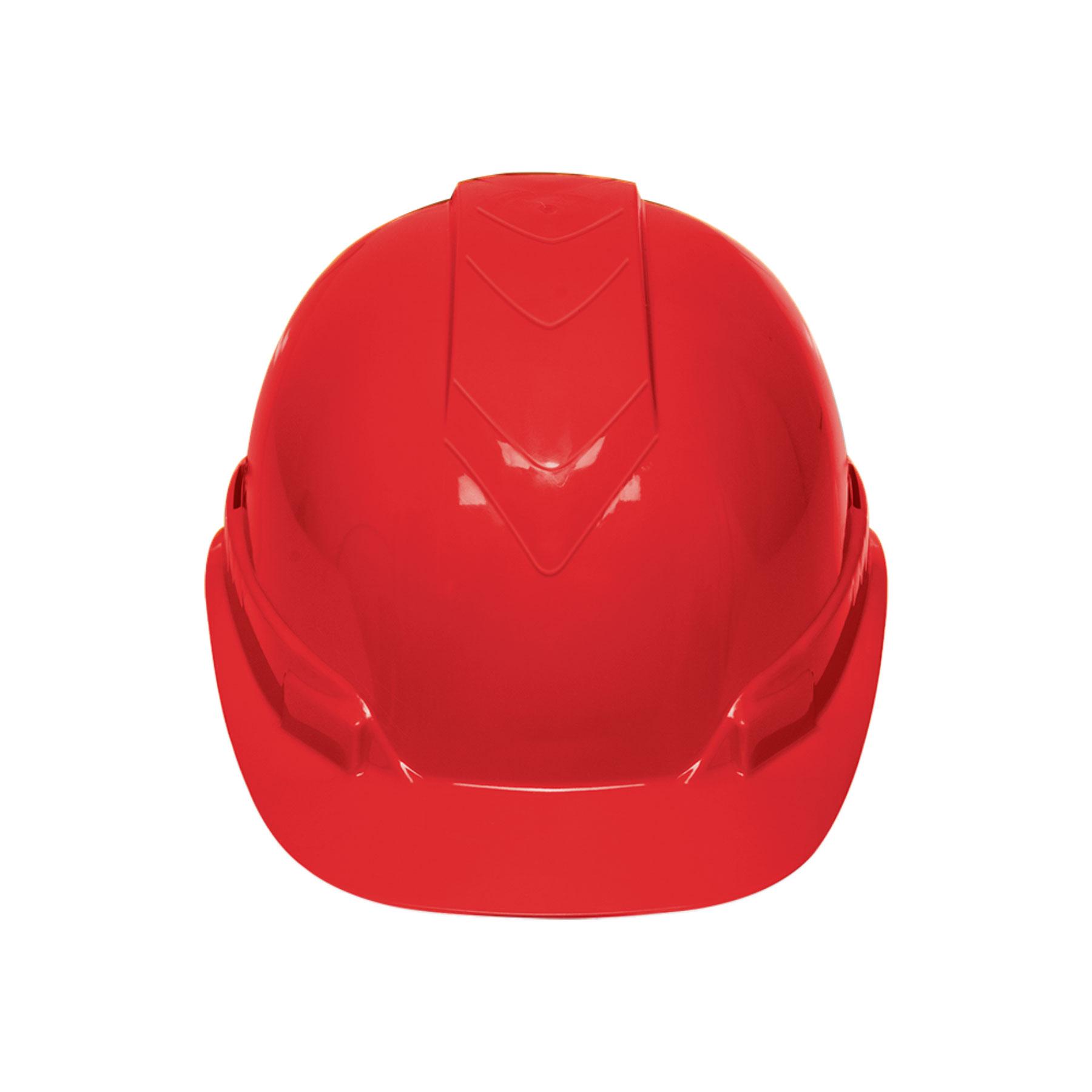 Casco de seguridad color rojo