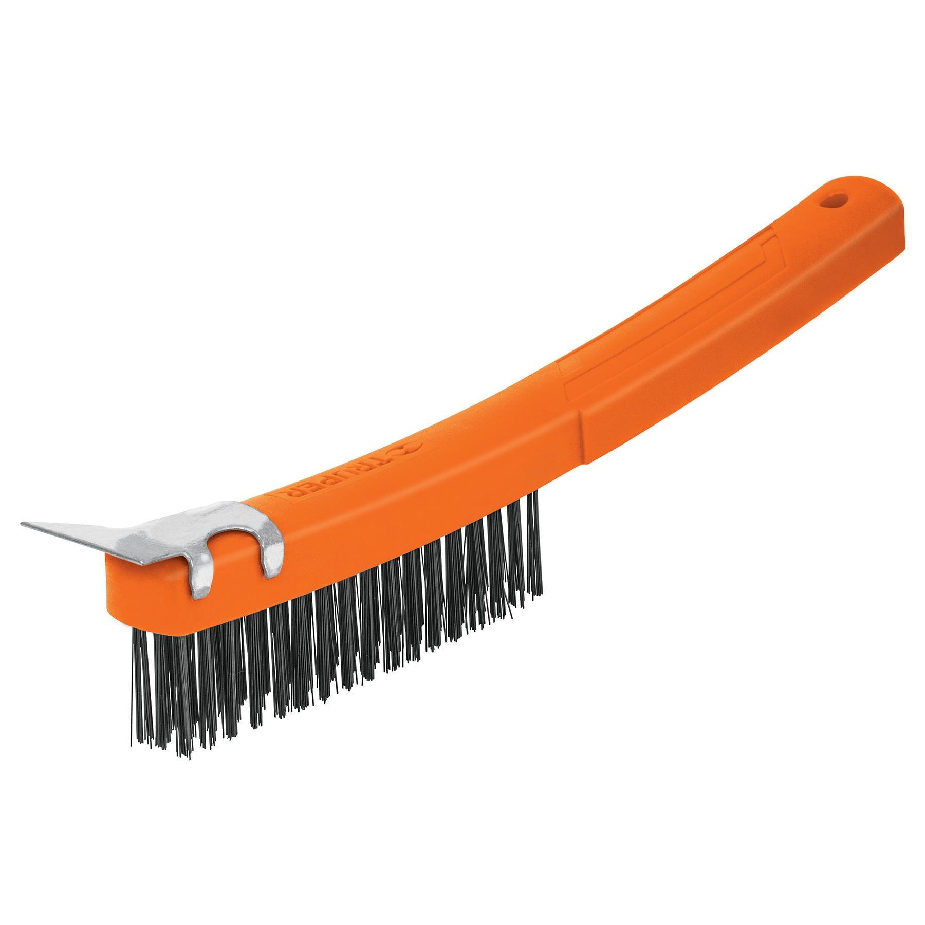 Cepillo de alambre con espátula, acero carbono, 51 pinceles