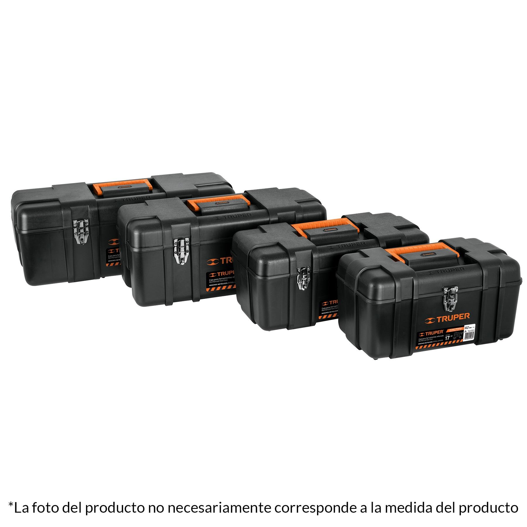 Caja para herramienta, plástica de 23', industrial