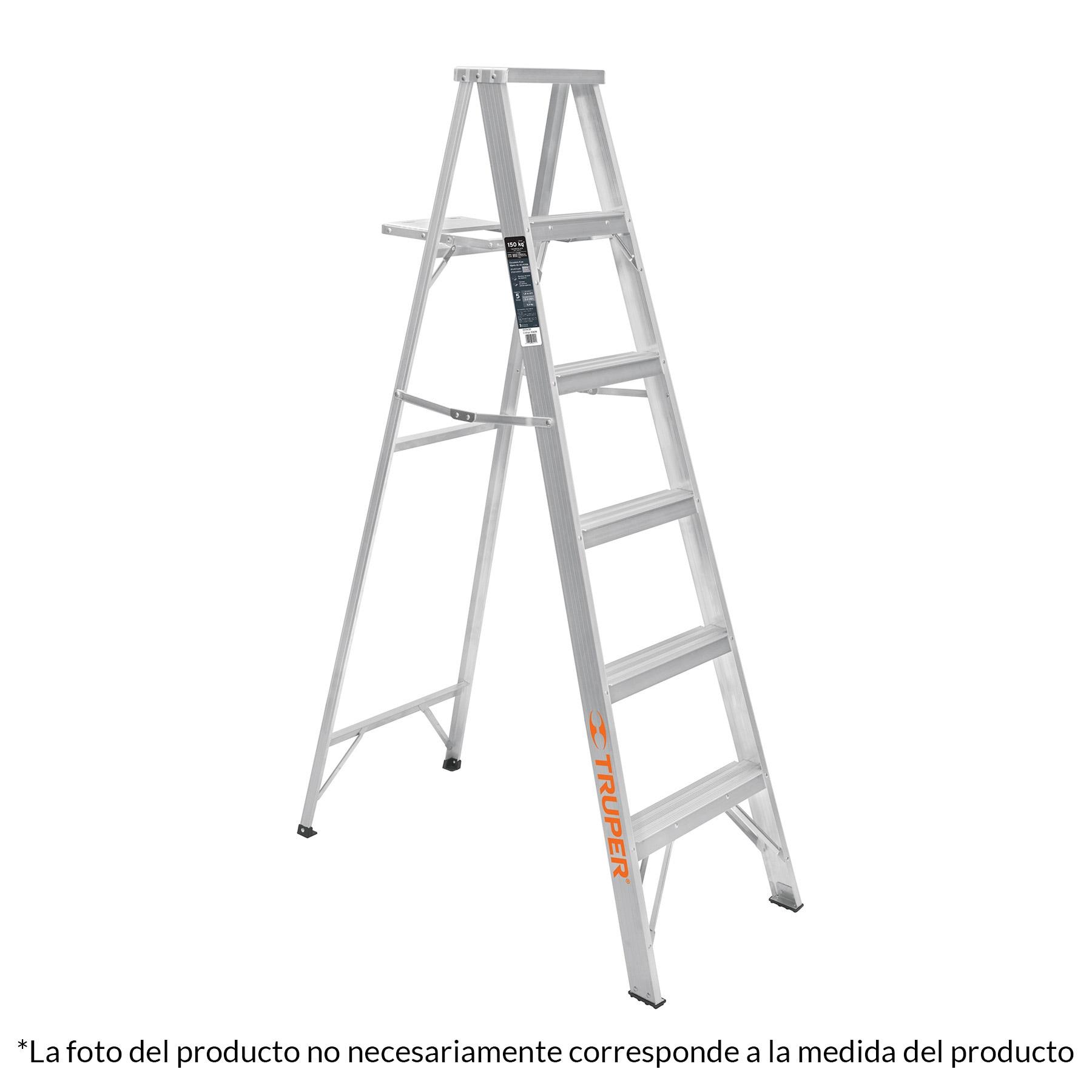 Escalera de tijera, aluminio, tipo lll, 4 escalones