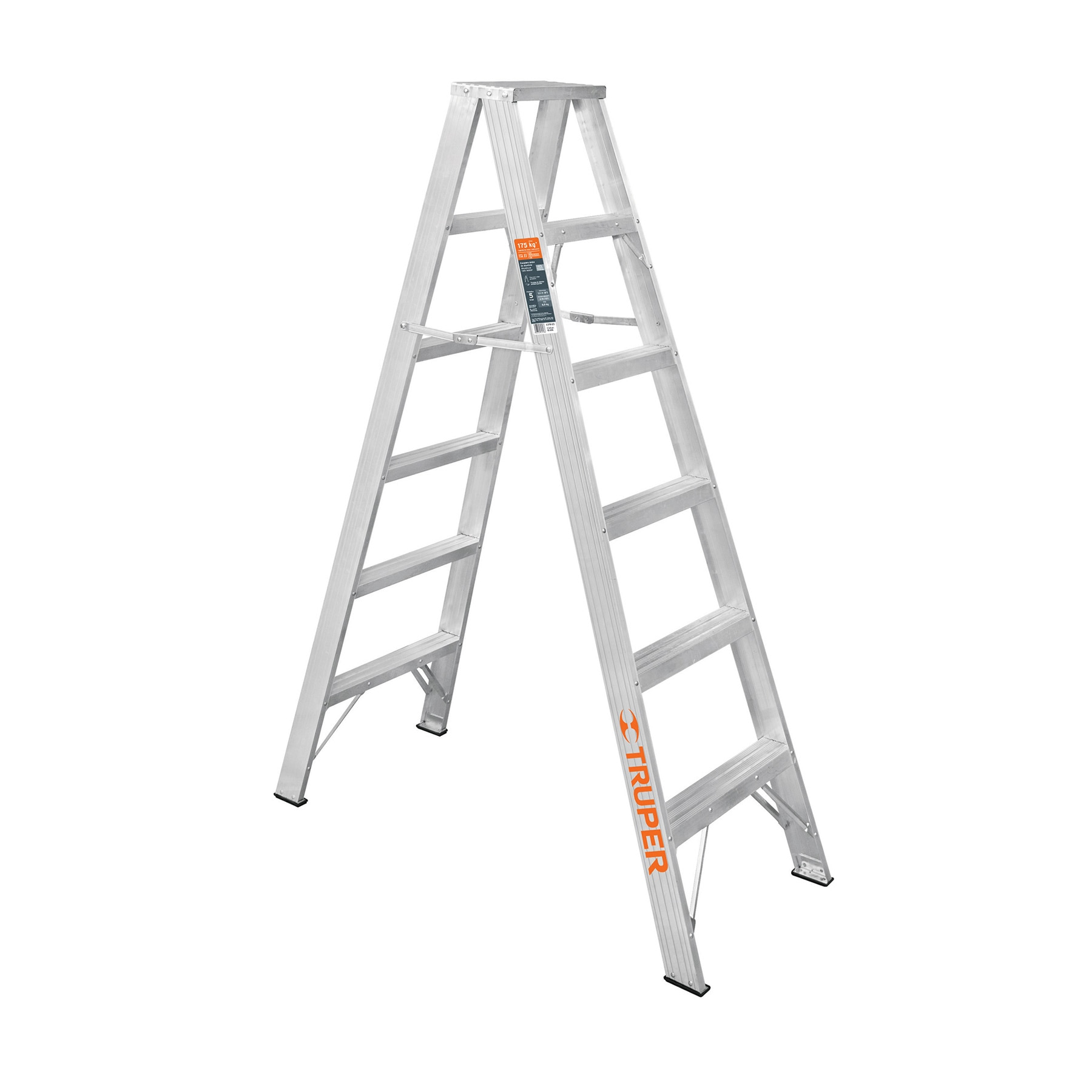 Escalera de tijera doble, tipo ll, 5 escalones