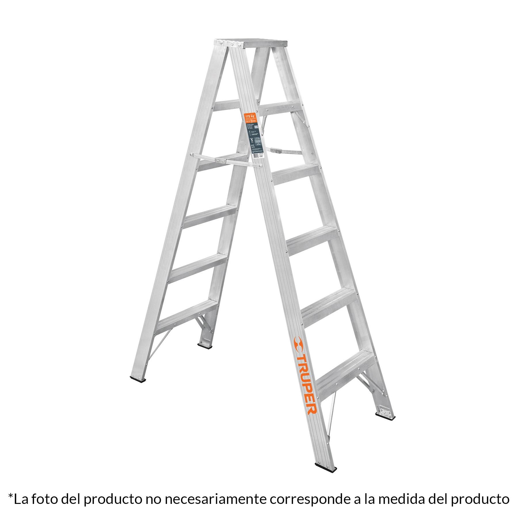 Escalera de tijera doble, tipo ll, 6 escalones