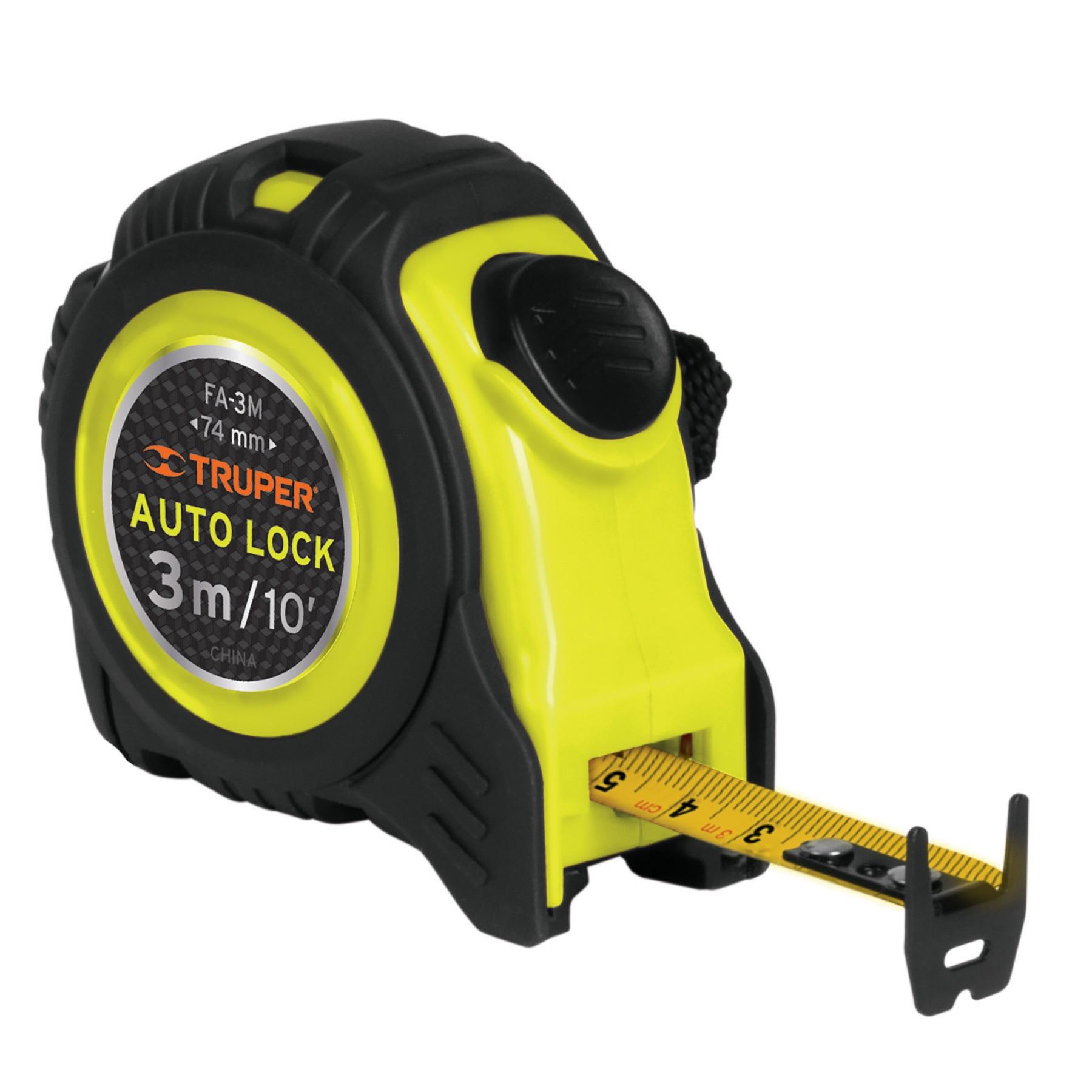 Flexómetro Auto Lock, 3 m, cinta 16 mm
