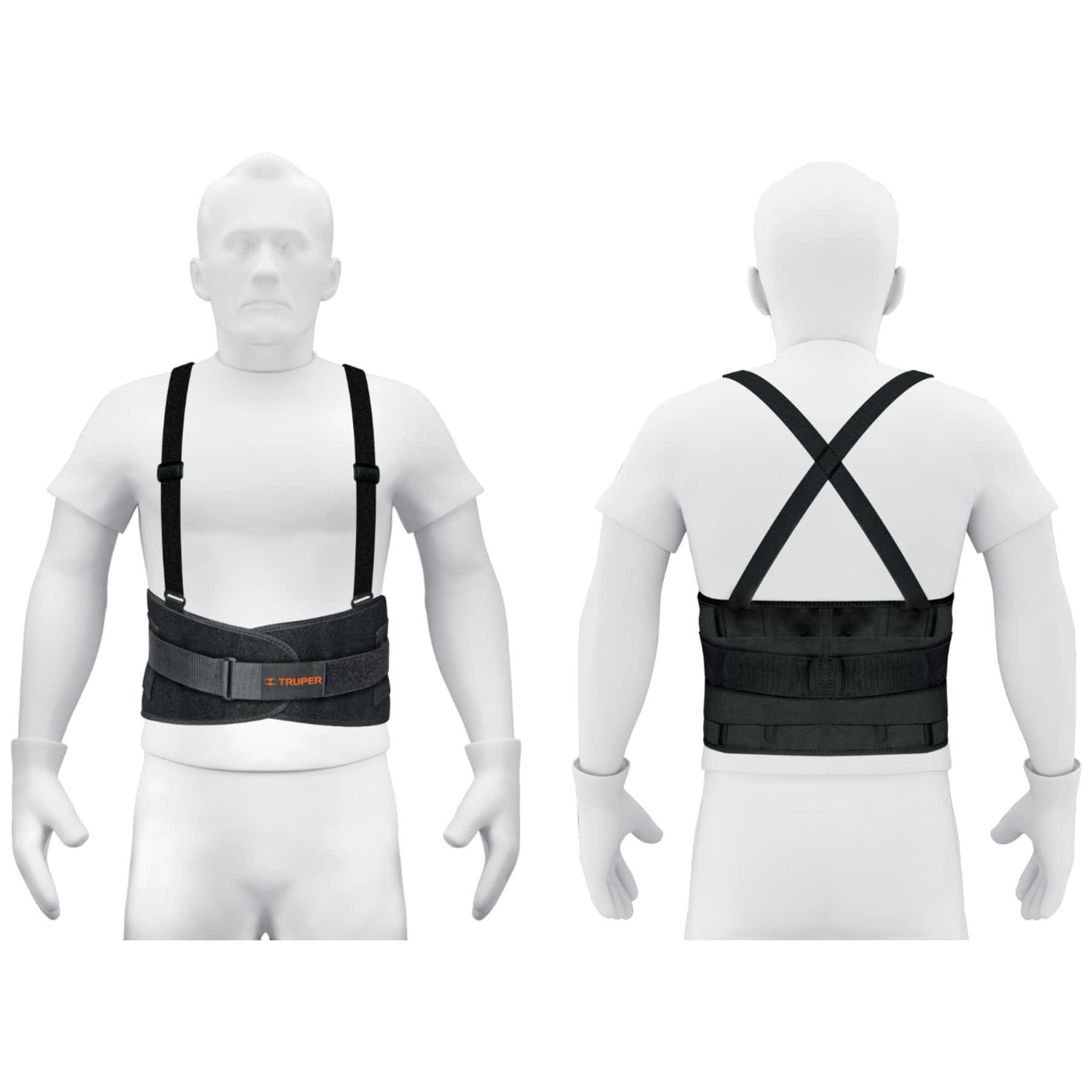 Faja con tirantes ajustables, tercer cinturón, extra grande