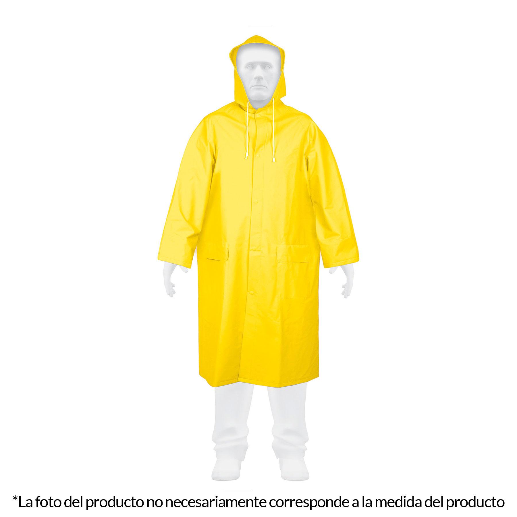 Gabardina impermeable, talla mediana,PVC