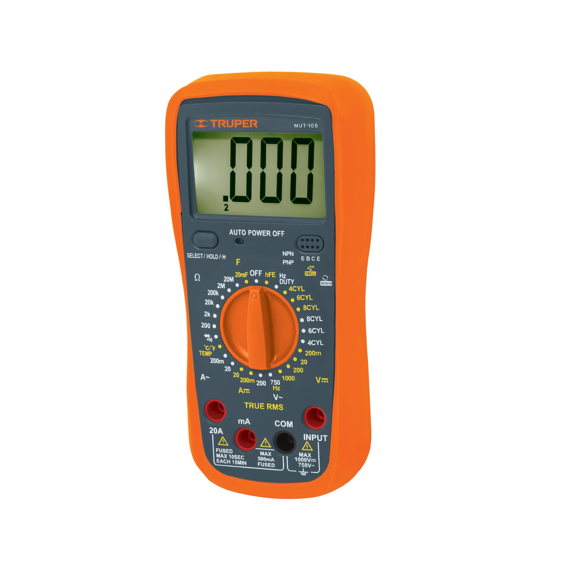 Multímetro digital para mantenimiento automotriz con RMS ver