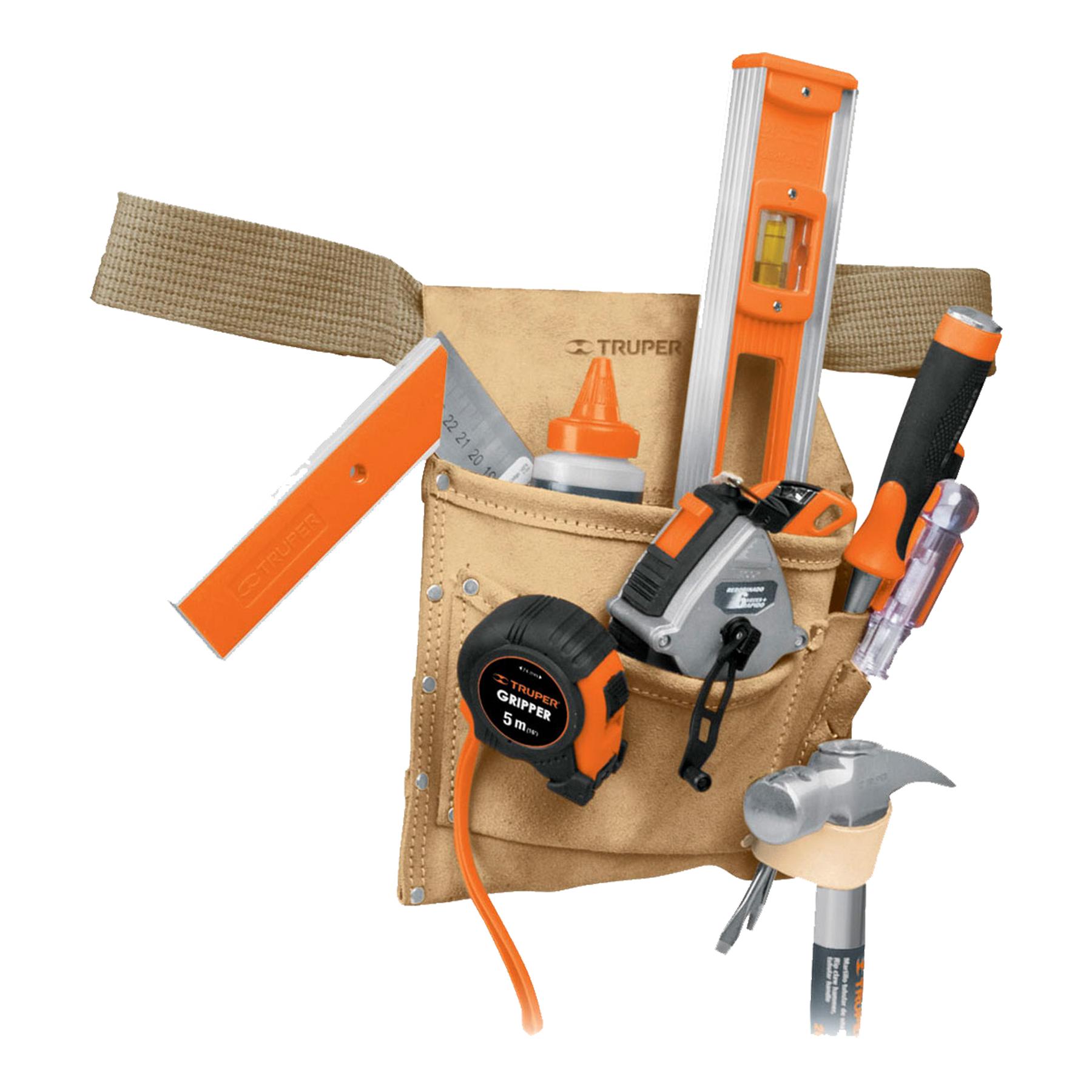 Porta herramientas de carnaza, 6 compartimentos