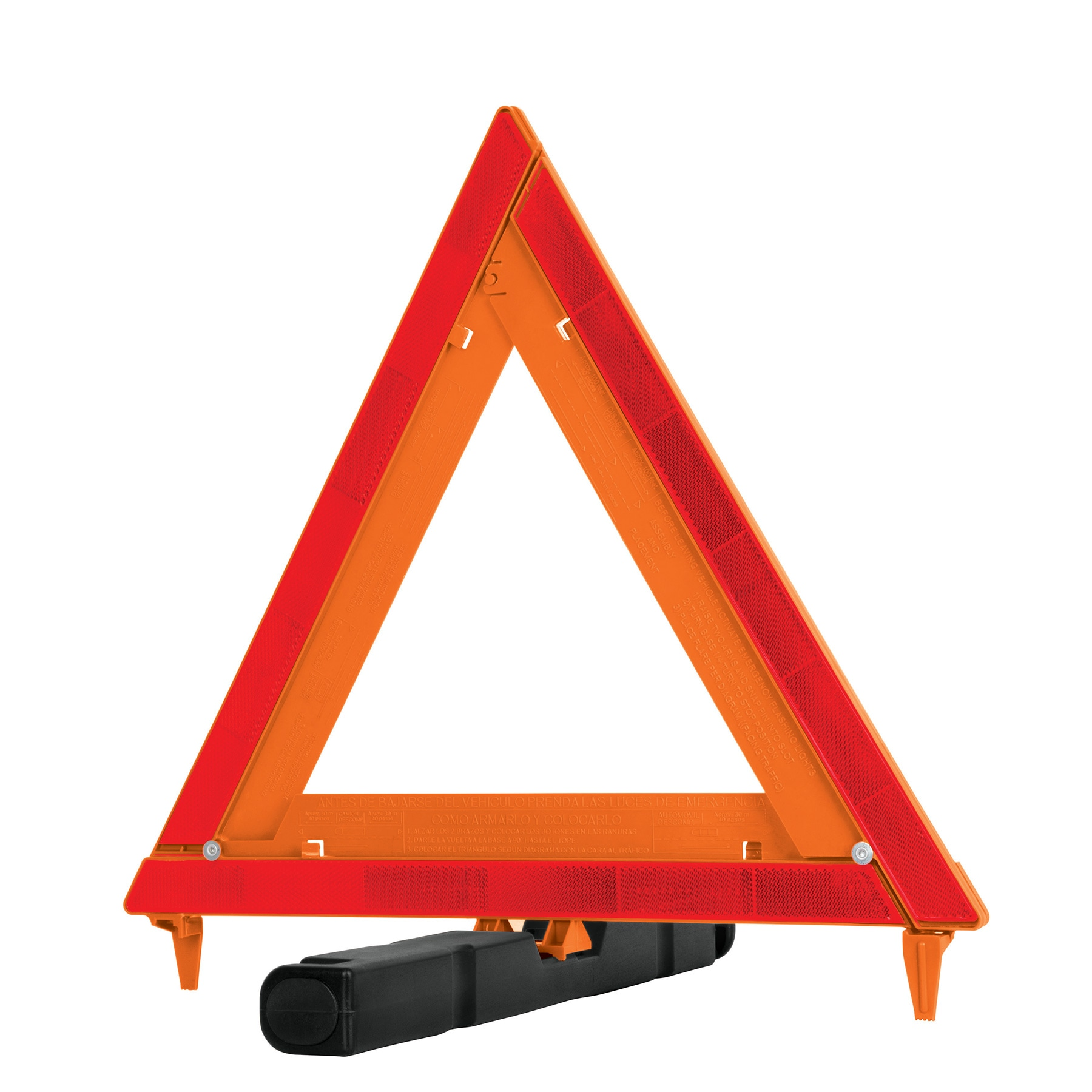Triángulo de seguridad, de plástico, 43.5 cm