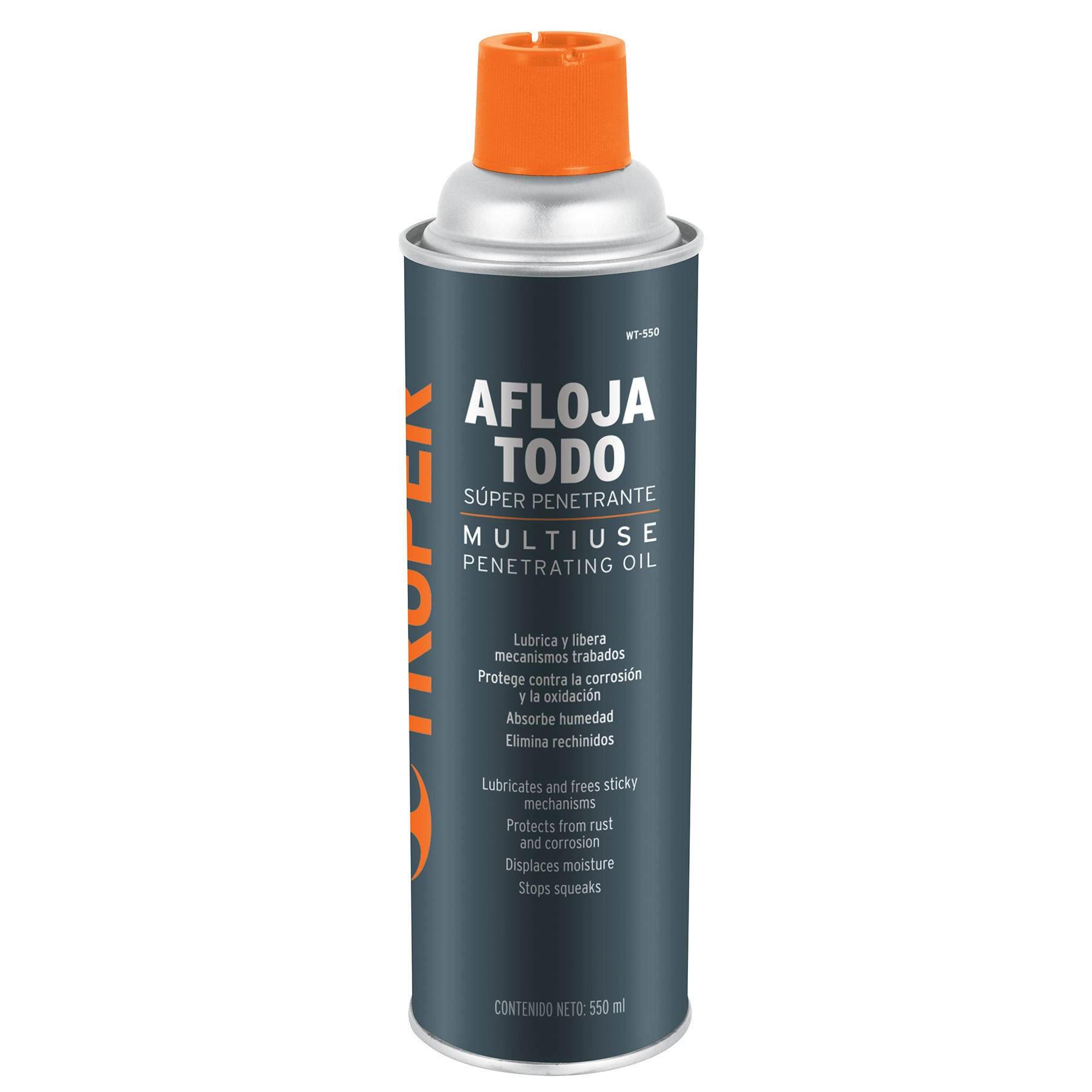 Aceite aflojatodo en aerosol, 550 ml