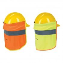 Cubrenucas para casco, con reflejante
