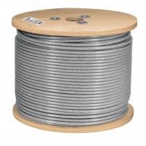 Cables de acero recubiertos de PVC, 7 X 7 hilos, carrete de madera de 300 m