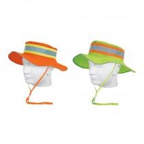 Sombreros tipo cazador de alta visibilidad con reflejante