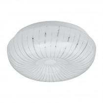 Luminario LED tipo plafón decorativo 8 W, luz cálida