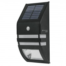 Arbotante solar con sensor de movimiento, 2 LED