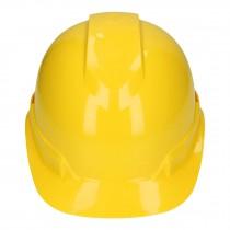 Casco de seguridad ventilado, ajuste de matraca, amarillo