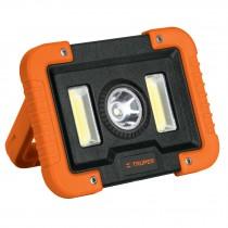 Lámpara de trabajo recargable de LEDs laterales y central