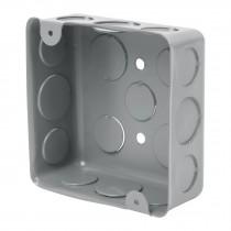 "Caja de acero cuadrada 4x4"", económica, Volteck"