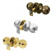 Cerraduras de pomo tipo esfera, mecanismo tubular, para recámara