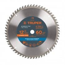 """Disco sierras diámetro 12"""", centro de 1 """", para madera"""
