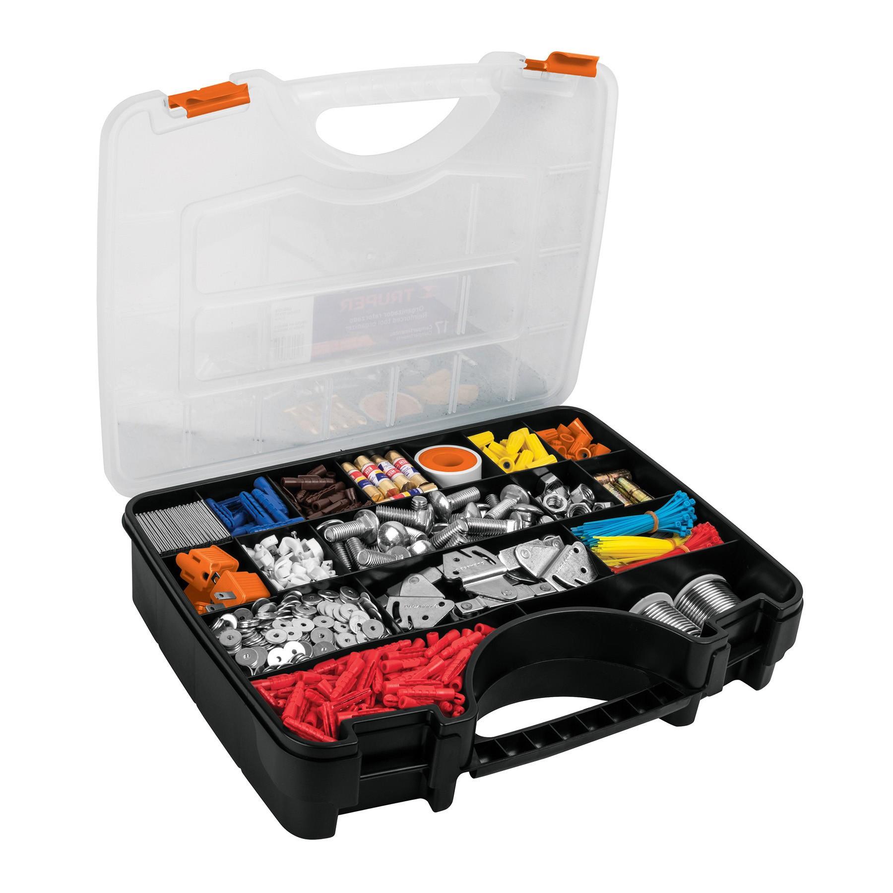"""Organizador 17"""" reforzado con 17 compartimentos"""