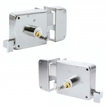 Cerraduras de sobreponer, instala-fácil acabado cromado