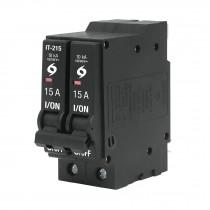 Interruptor termomagnético 2 polos 15 A, Volteck