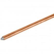 """Varilla de acero cobrizado a tierra 1/2"""" de 1.5 m"""
