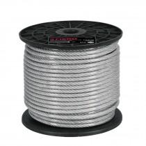 Cables de acero recubierto de PVC, 7 X 7 hilos, carrete plástico de 75 m