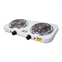 Parrilla eléctrica 2 quemadores, rectangular, Volteck Basic