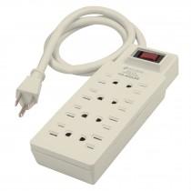Multicontacto uso rudo, 8 entradas, supresor, 110 joules