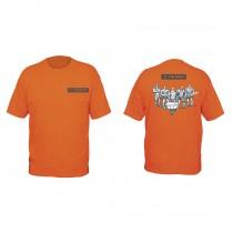 Camisetas estampadas color naranja 100% algodón, Truper