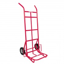 Diablo de carga de 300 kg, ruedas sólidas, doble balero