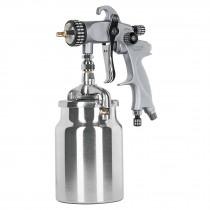 Pistola p/pintar succión HVLP, vaso alum, 1.4 mm, Truper Expert