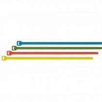 Cinchos de colores 18 lb, 10 cm 100 pzas