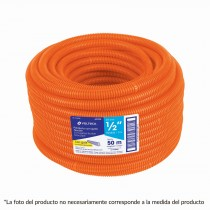 "Poliducto corrugado flexible, 3/4"", rollo 25 m, Volteck"