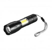 Linterna LED recargable de aluminio c/luz lateral, 270 lm