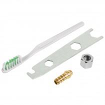 Accesorios (llave, cepillo, tuerca y espiga) p/PIPI-26 y 27