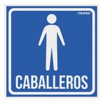 """Letrero de señalización """"CABALLEROS"""", 19 x 19 cm"""