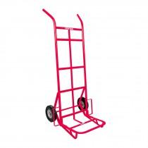 Diablo de carga de 400 kg, ruedas sólidas, doble balero