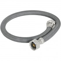 "Mangueras flexibles para fregadero, trenzado con vinilo gris, 1/2"" x 1/2"""