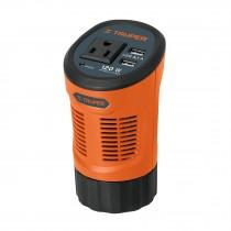 Inversor de corriente tipo vaso con 2 puertos USB, 120 W