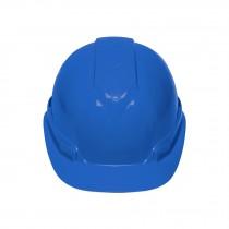 Casco de seguridad ventilado, ajuste de matraca, azul