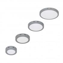 Luminarios redondos de LED tipo plafón de sobreponer, color gris