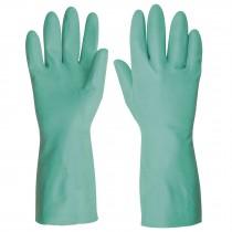 Guantes para manejo de solventes, nitrilo, verdes