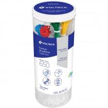 Cincho plástico, colores surtidos, bote con 650 pzas