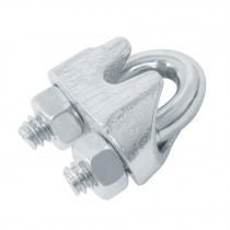 Nudos (perros) de hierro para cable de acero
