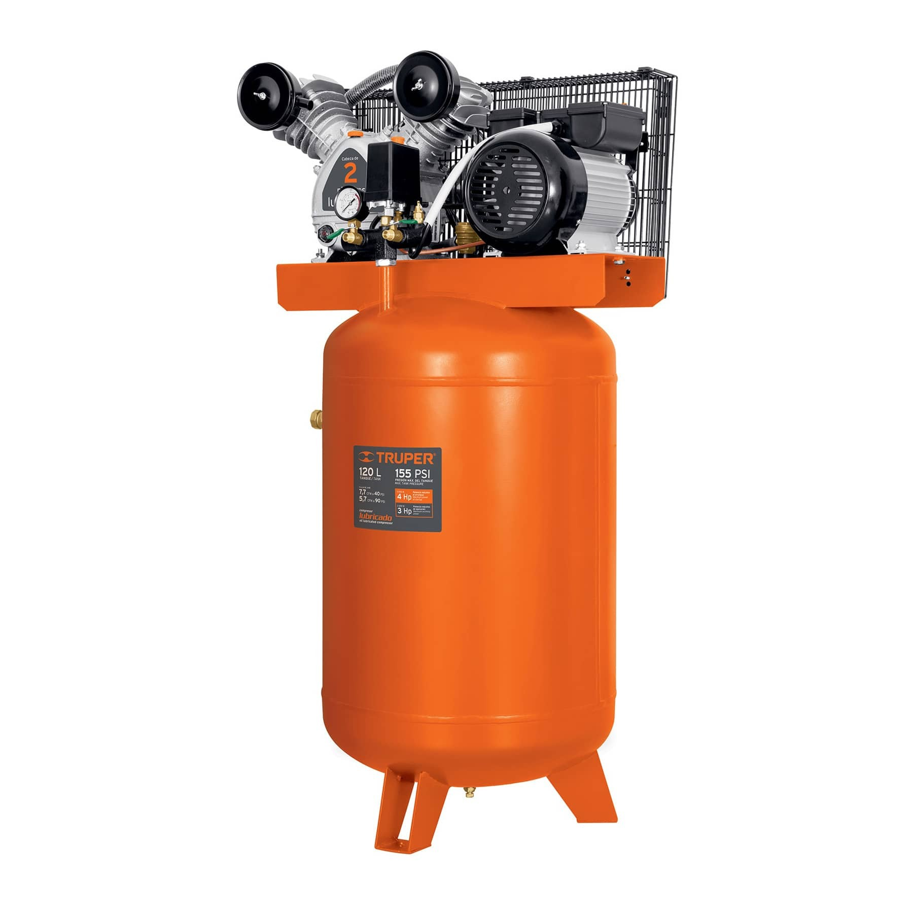 Compresor vertical 120 L, 4 HP (potencia máxima ), 220 V